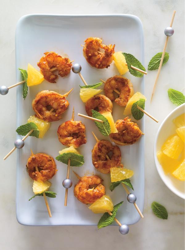 Shrimp à L'Orange Skewers | Ricardo