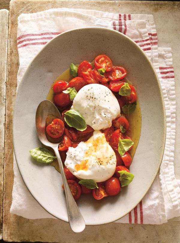 Burrata with cherry tomato confit ricardo for Cuisine ricardo