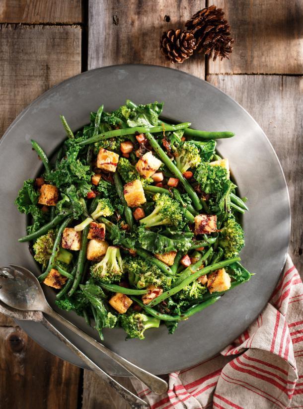 Photo Poêlée de légumes verts au vin rouge