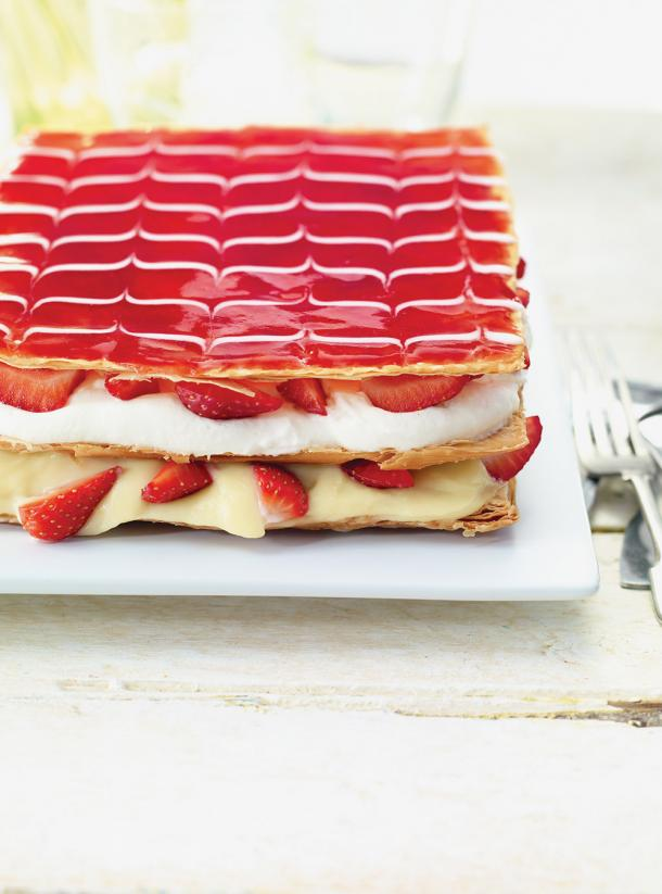 Photo Millefeuille aux fraises