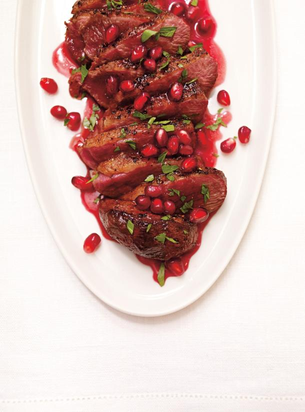 Photo Seared Duck with Pomegranate