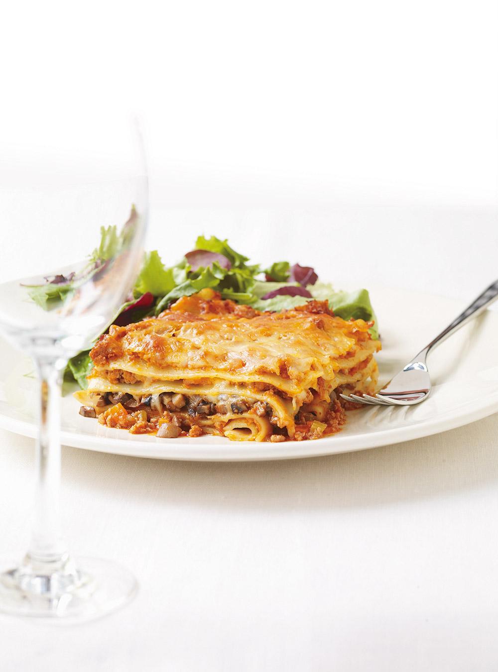 Lasagne Idee Recette.Lasagne Bolognaise Aux Champignons Ricardo