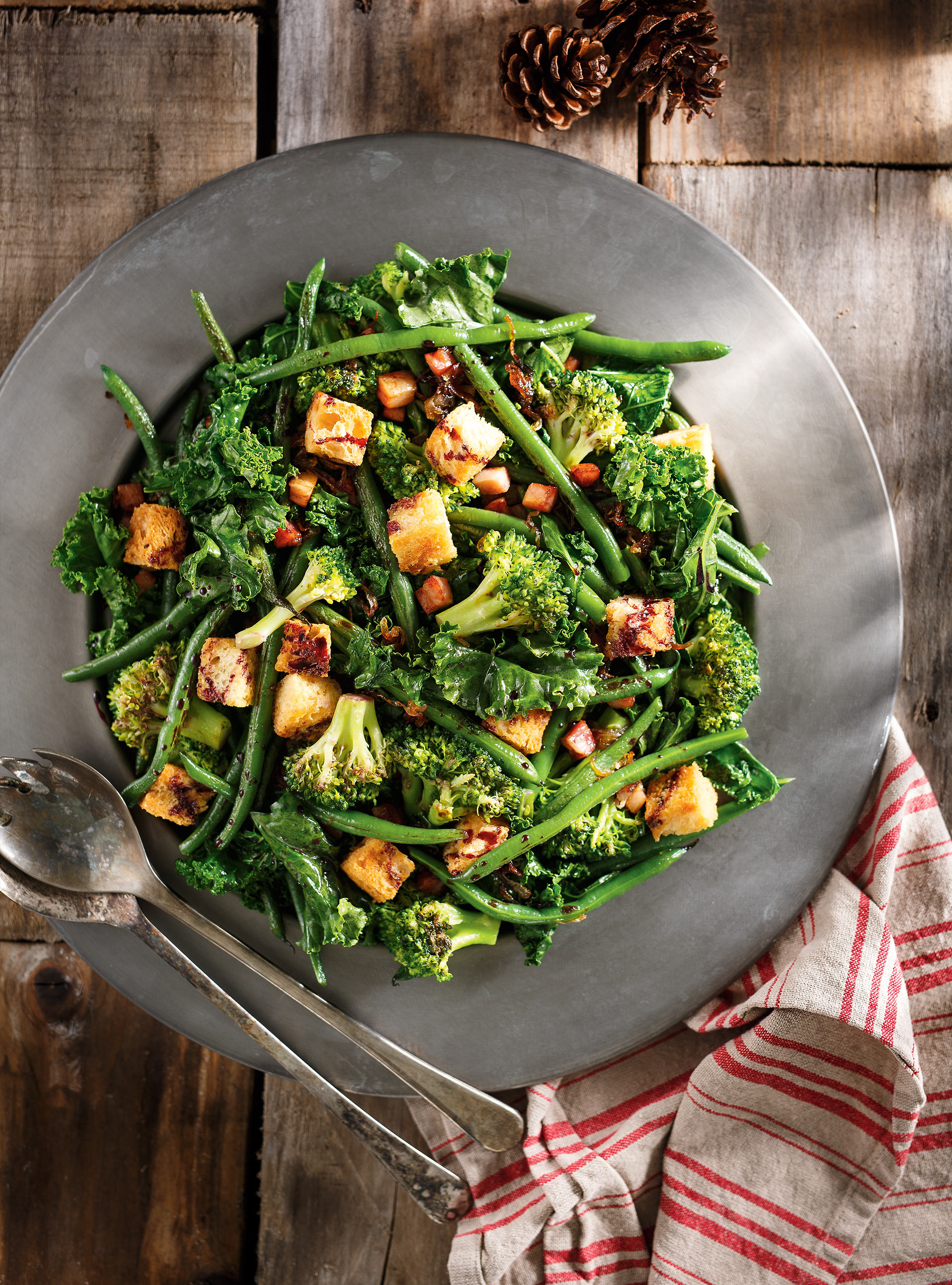 Sautéed Greens with Red Wine Reduction