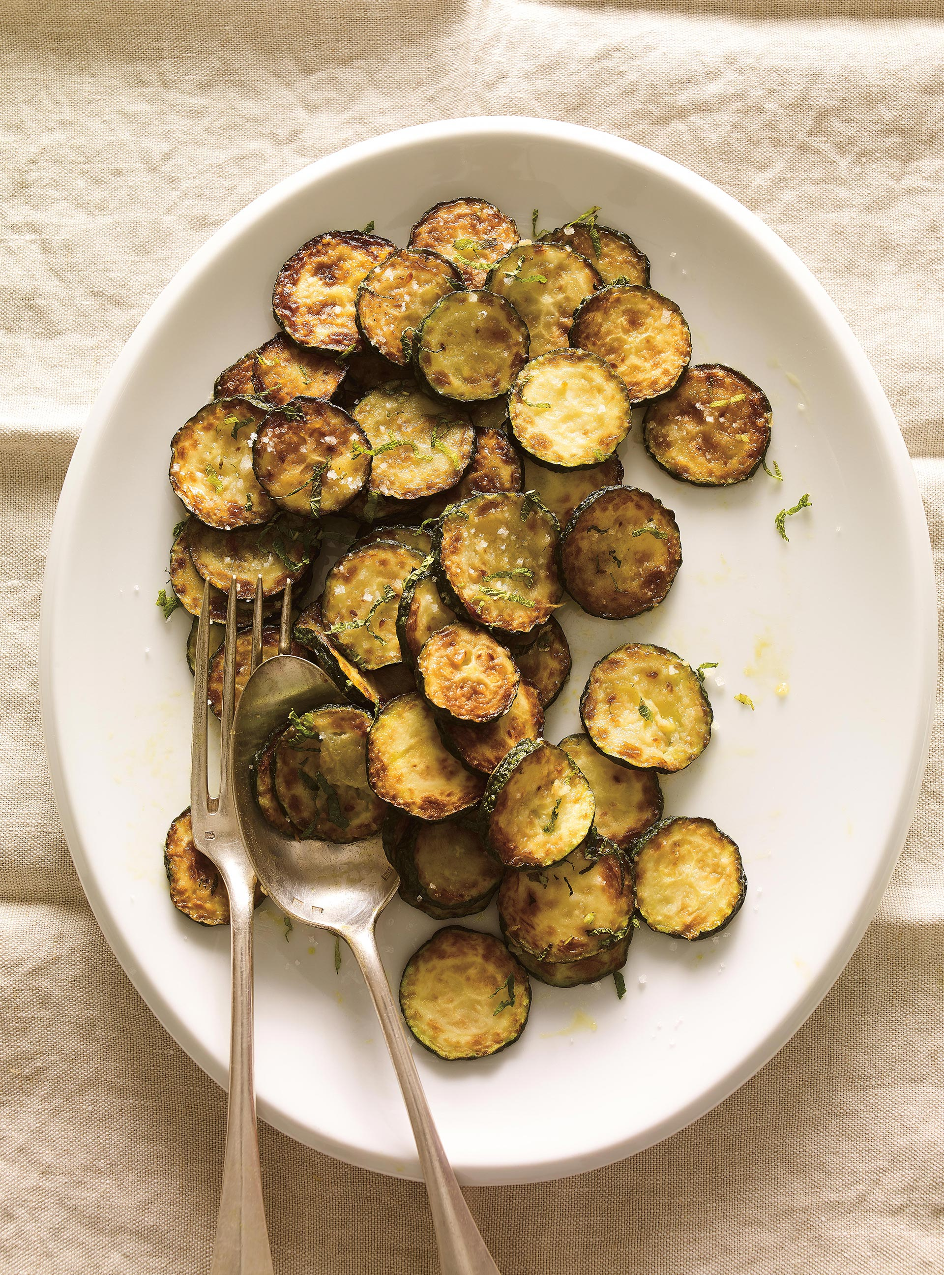Salade de zucchini froids à la menthe