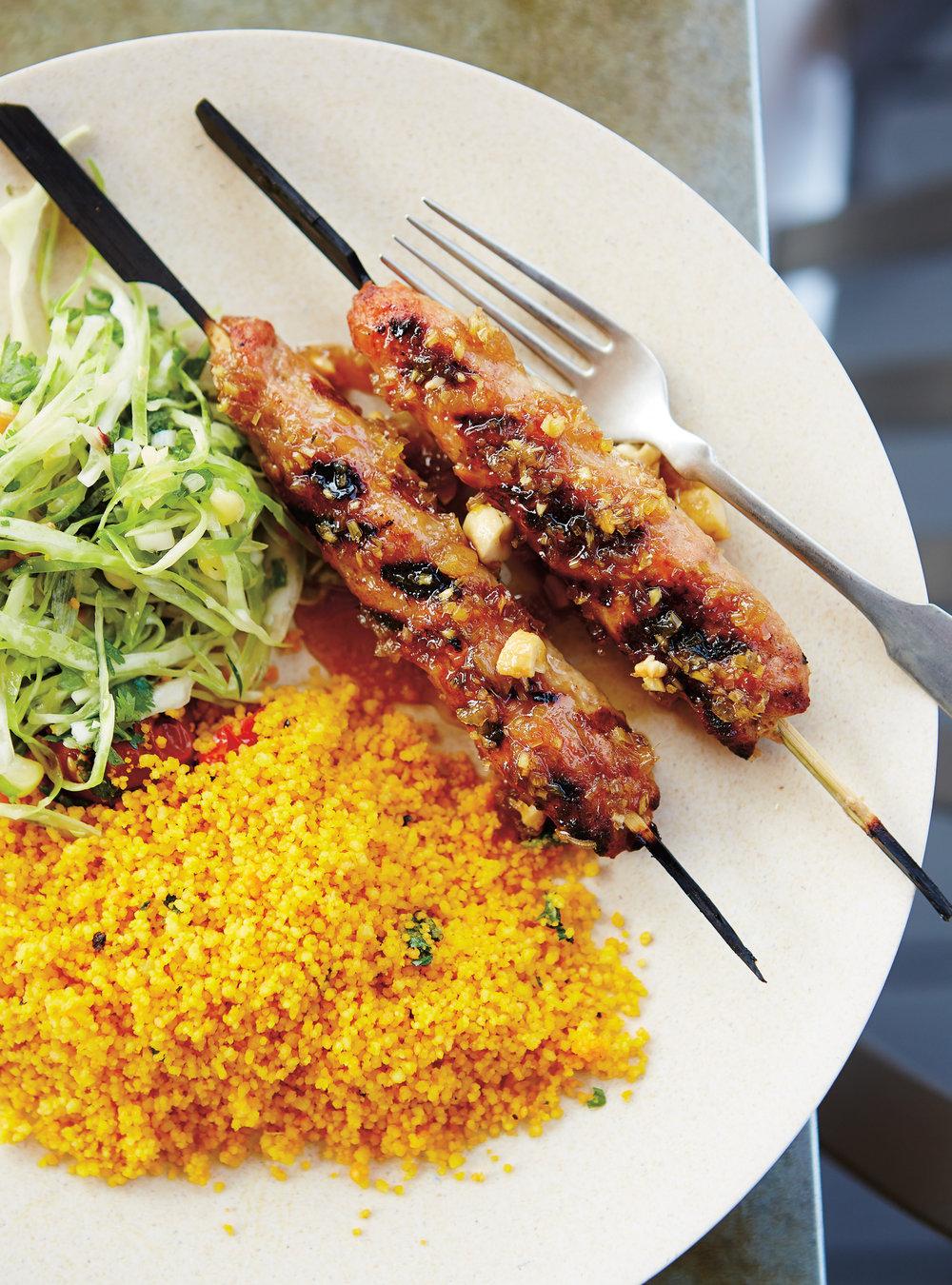 Brochettes de porc hach au gingembre et la citronnelle for Articles de cuisine ricardo