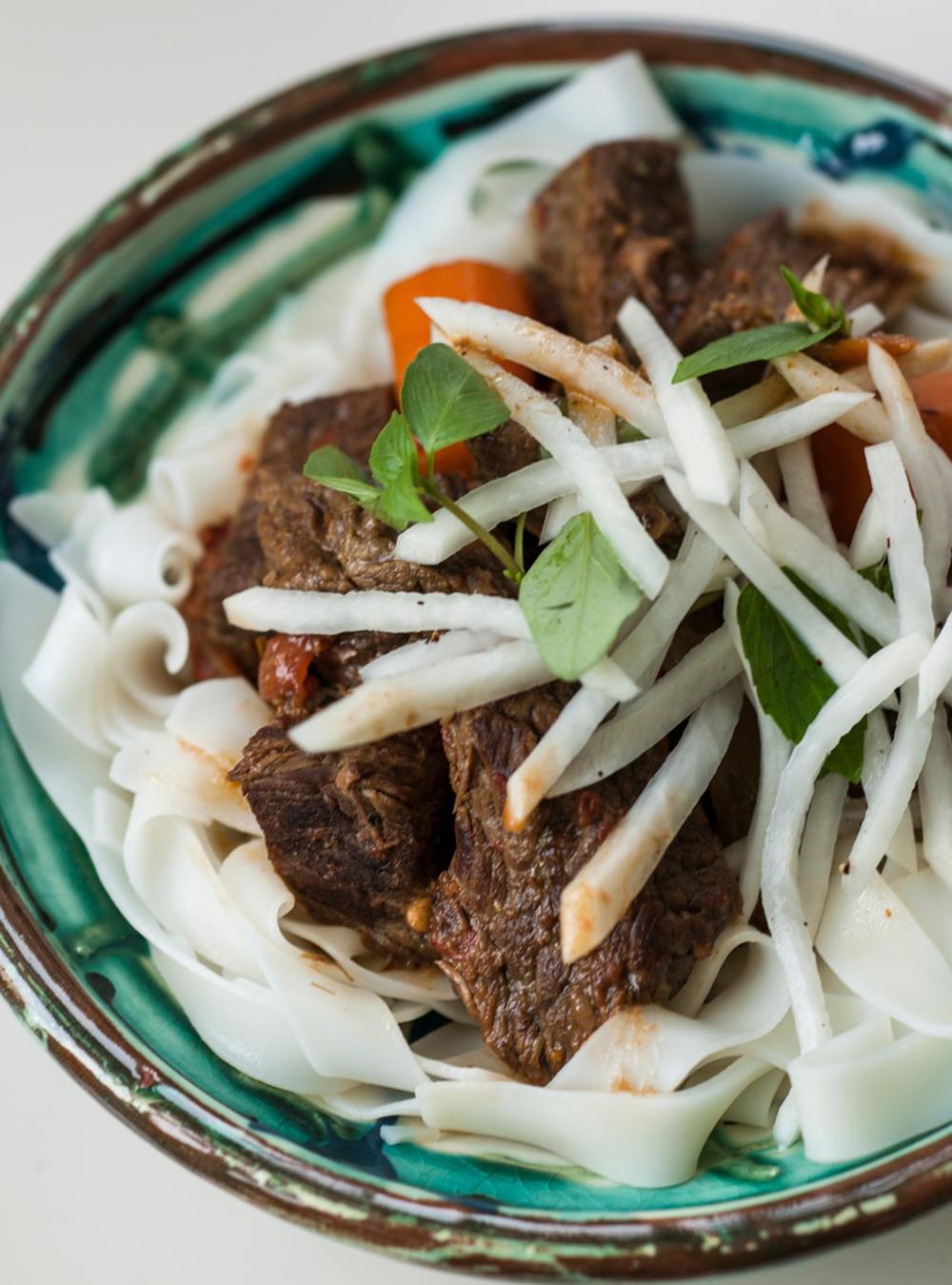 Kim Thuy's Lemongrass Beef Stew with Daikon Salad | Ricardo