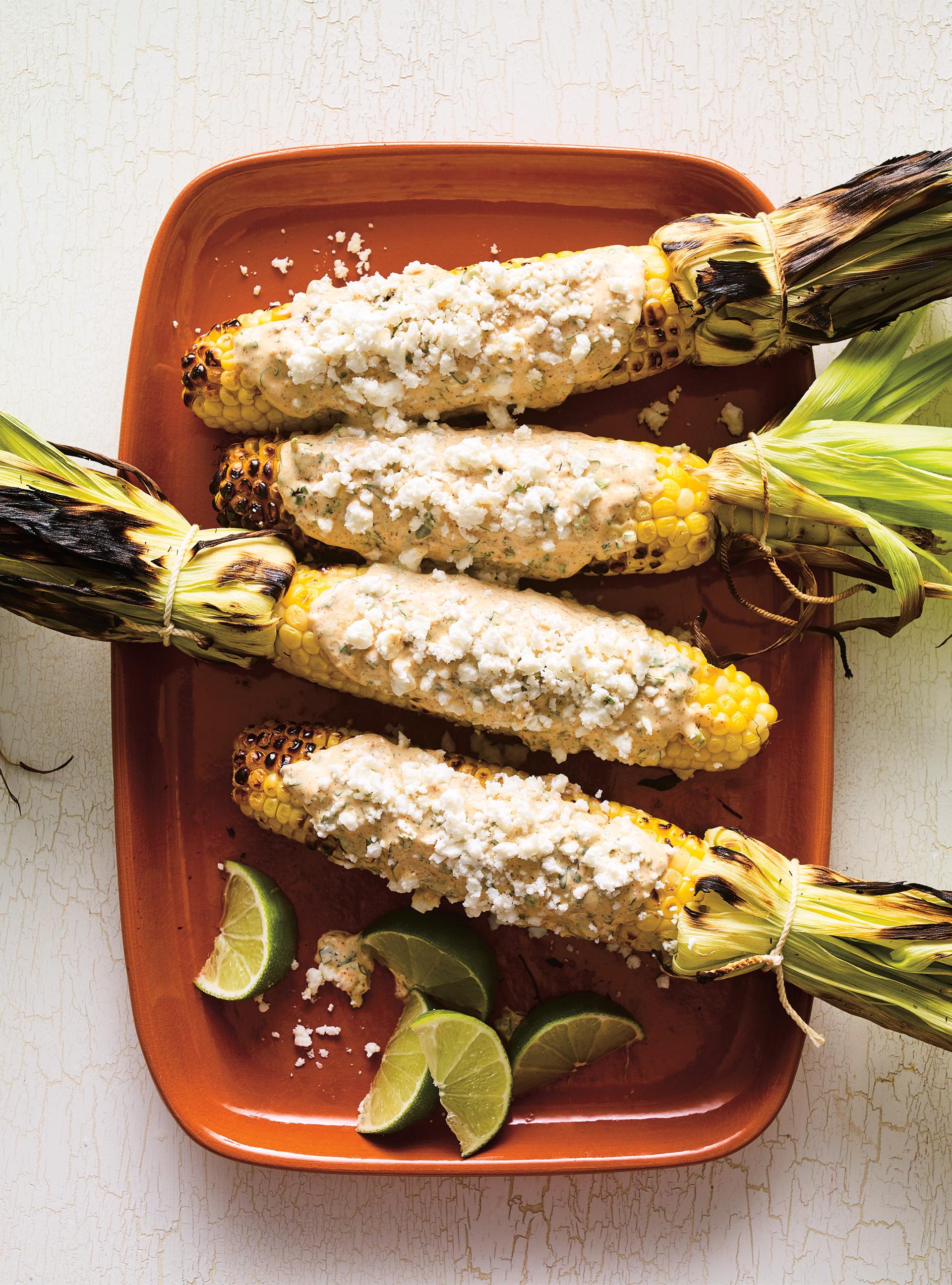 maïs grillés au barbecue (elotes a la parrilla) | ricardo