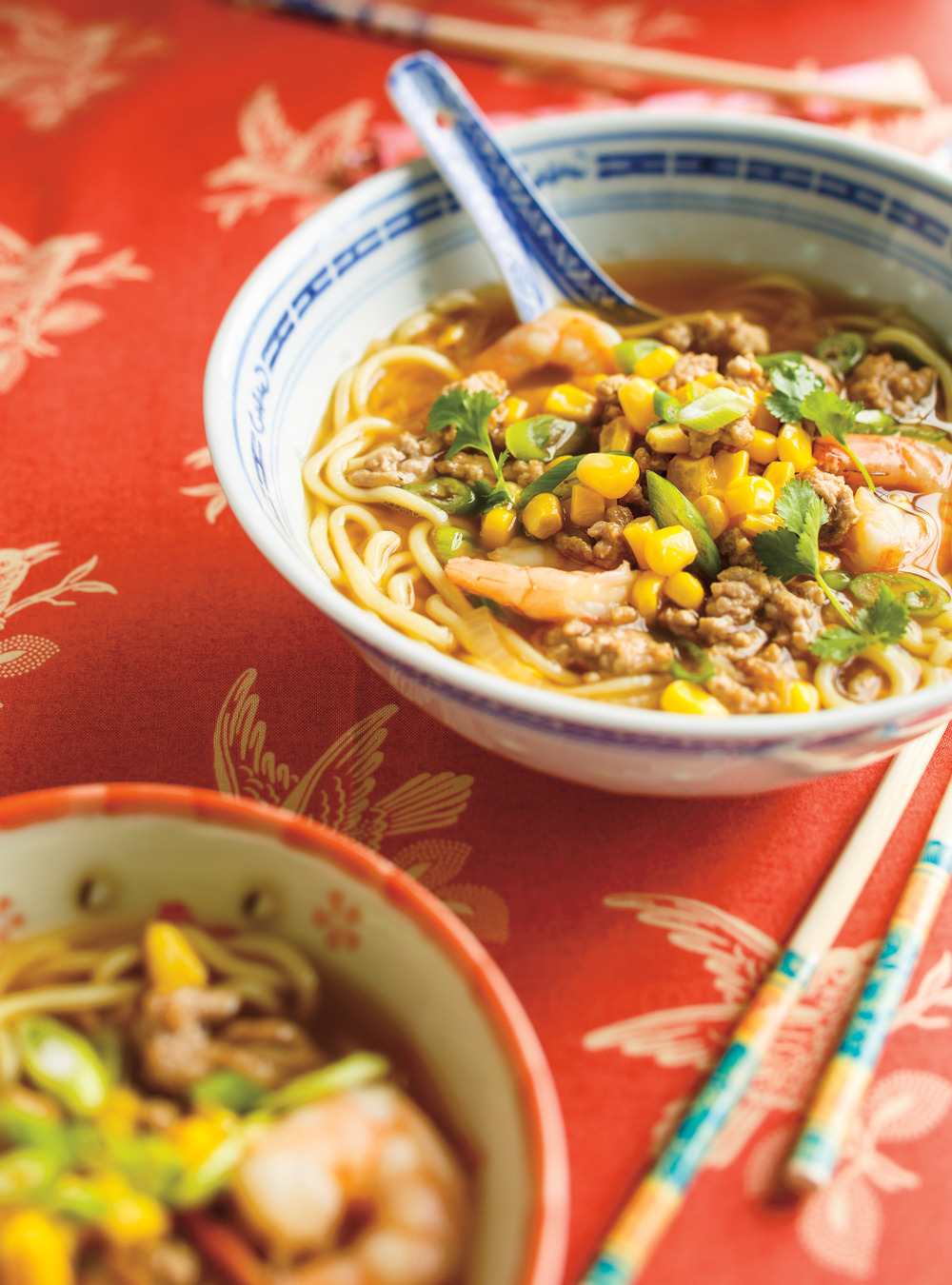 Ground Pork and Shrimp Ramen Soup