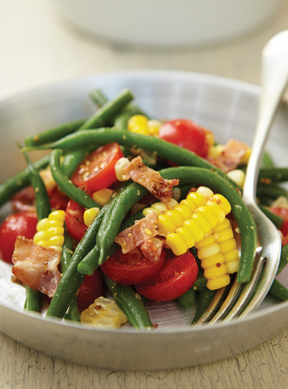 Salade de haricots verts et de ma s ricardo for Articles de cuisine de ricardo