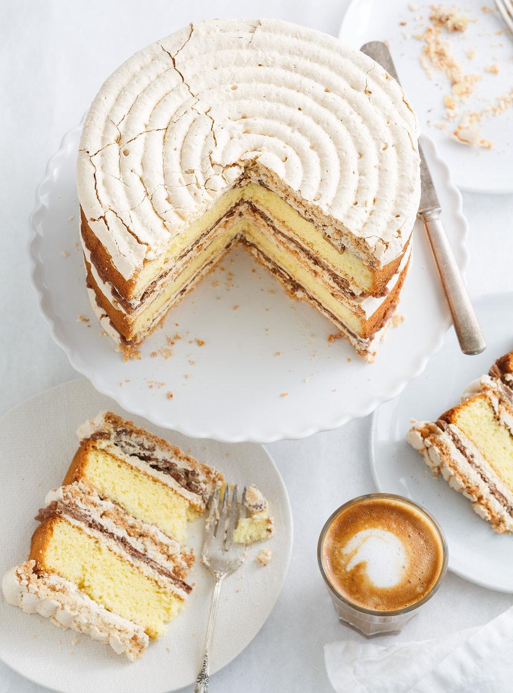 Gâteau Croquant Aux Amandes Au Chocolat Et Au Café Ricardo