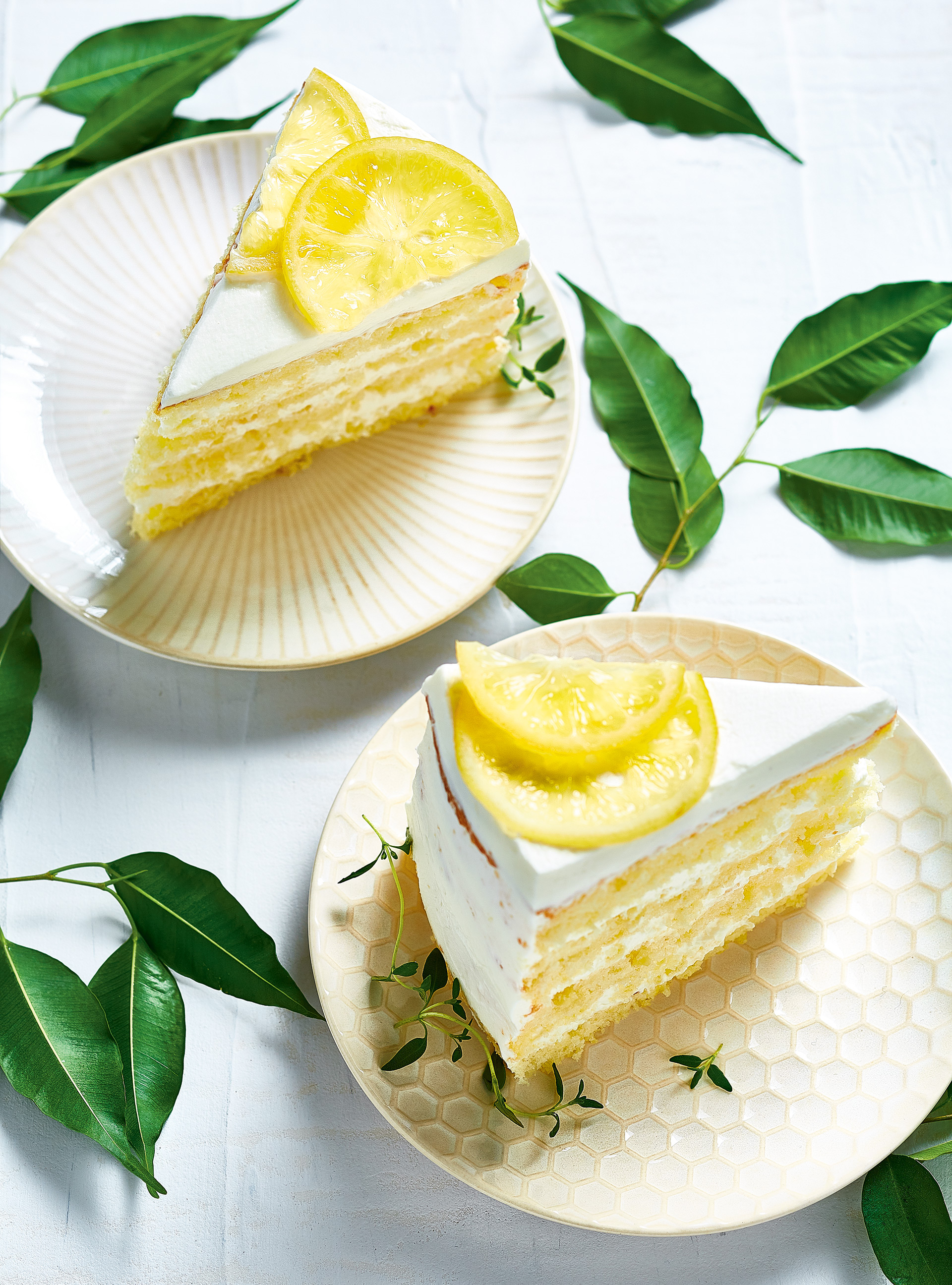 7d5f588a2940 Lemon Chiffon Naked Cake with Whipped Cream