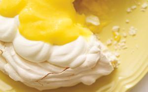 Pavlova et curd au citron