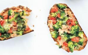 Tartines au thon et au brocoli