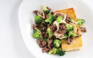 Boeuf au brocoli et au tofu