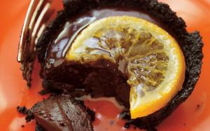 Tartelettes à la ganache et aux clémentines confites