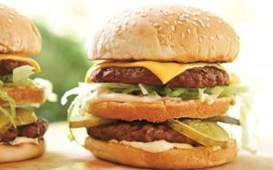 American-Style Double Cheeseburgers