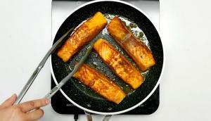 Saumon au cari et pois chiches tikka masala