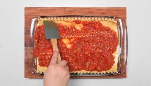 Lasagne crémeuse aux légumes et saucisses