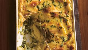 Spinach and Mashed Potatoes au Gratin