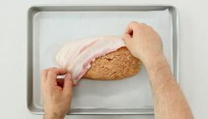 Pain de viande au porc et aux pommes