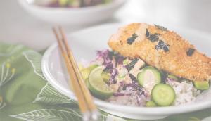 Bol aux edamames et saumon