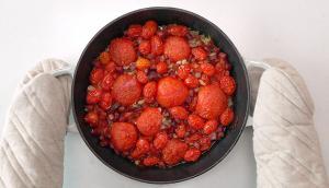 Pâtes aux tomates confites et au chorizo