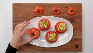 Tomates farcies aux haricots blancs