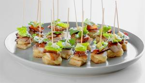 Mini Chicken Caesar Skewers