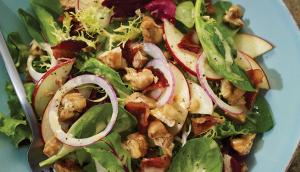 Apple, Walnut and Bacon Green Salad