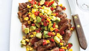 Minute Steak with Avocado Salad