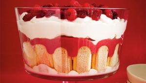 Cranberry and Raspberry Trifle