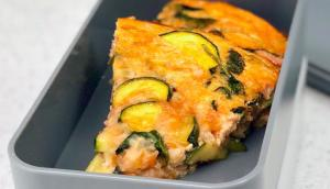 Frittata with Green Vegetables and Cheddar