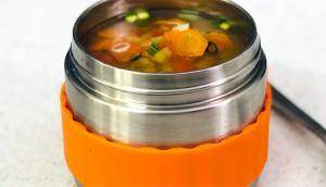 Soupe aux lentilles rouges où tout cuit dans le thermos ®