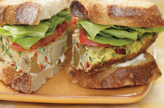 Sandwich frittata