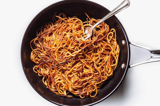 Spaghettis collés