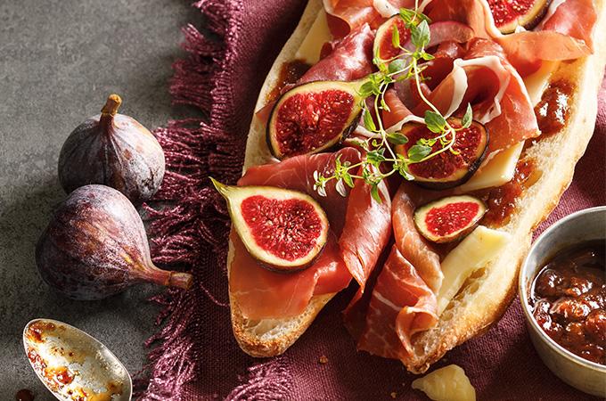 Baguette prosciutto double figue