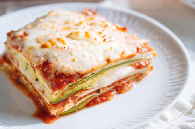 Courgettes et tofu alla parmigiana