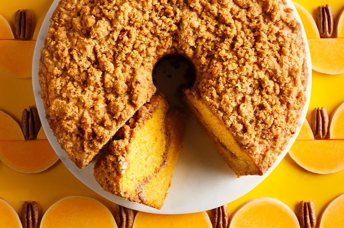 Gâteau à la courge et crumble de pacanes (coffee cake)