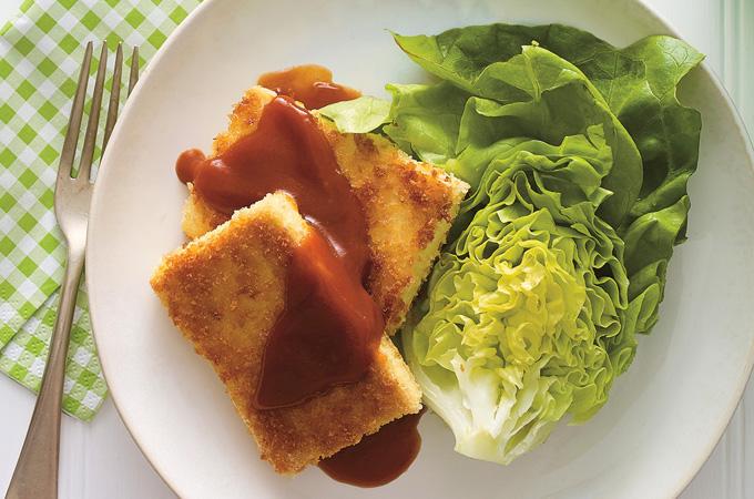 Tofu croustillant et sauce barbecue