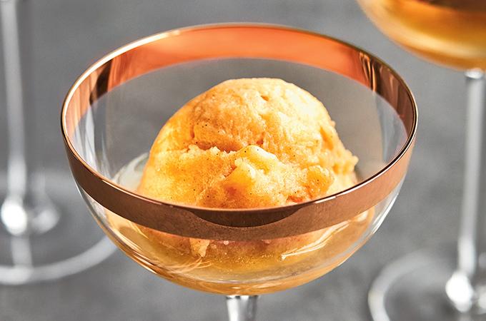 Persimmon and Vanilla Sorbet