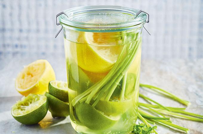 Vodka infusée à l'agrume et à la coriandre