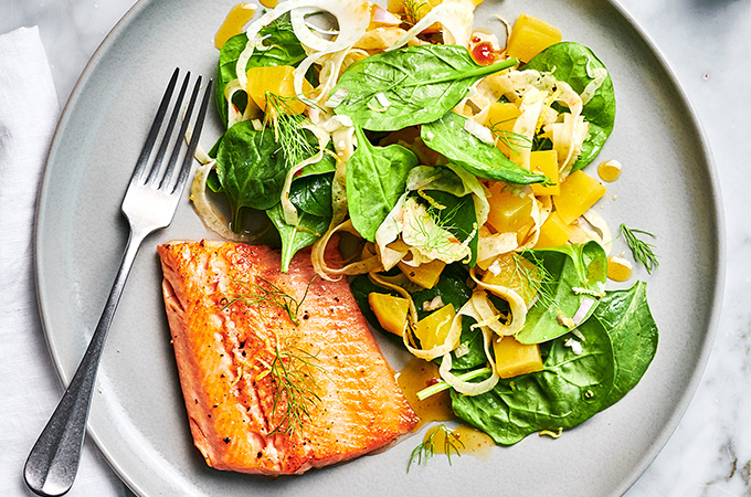 Trout with Beet Salad