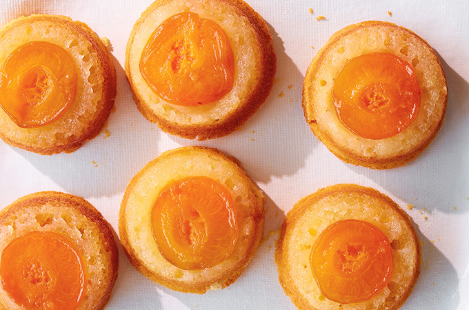 Apricot Upside-Down Cakes on the Grill