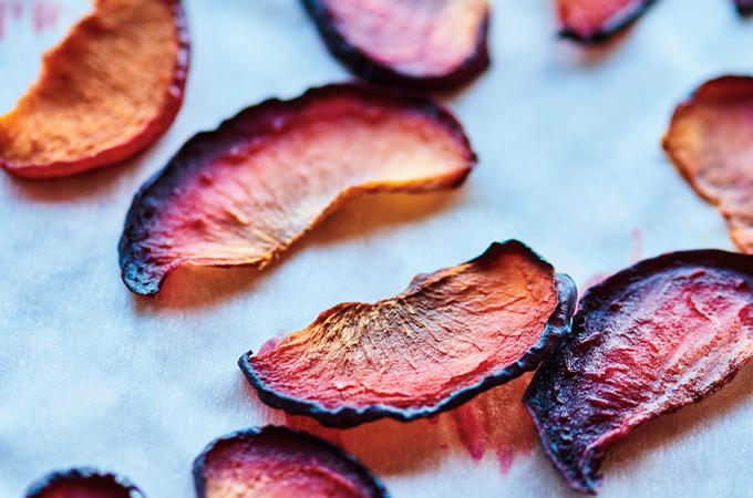 Prunes séchées au four