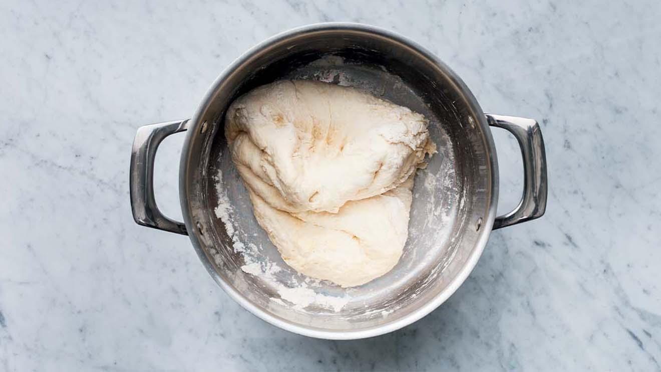 fold the dough over itself