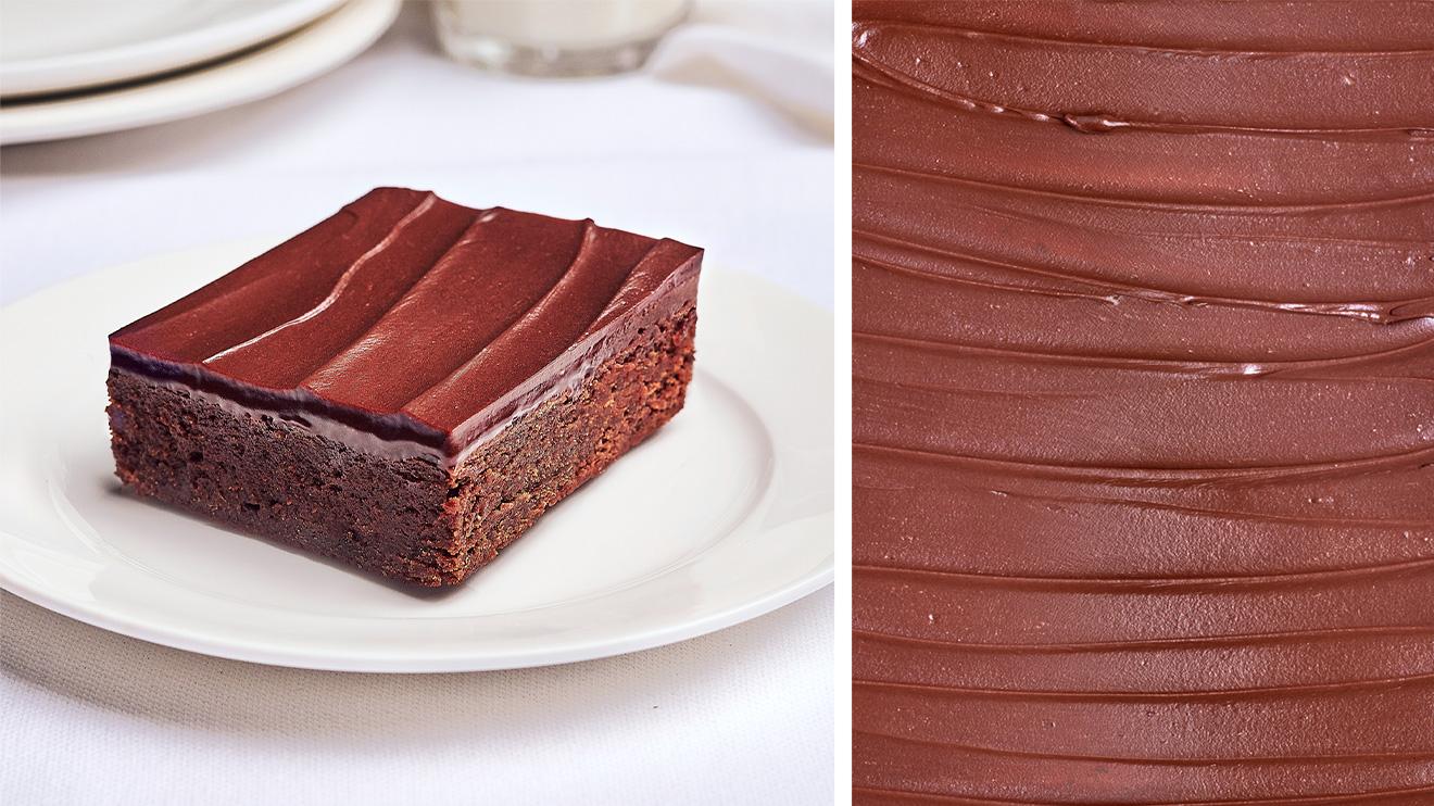 Brownie tout chocolat.