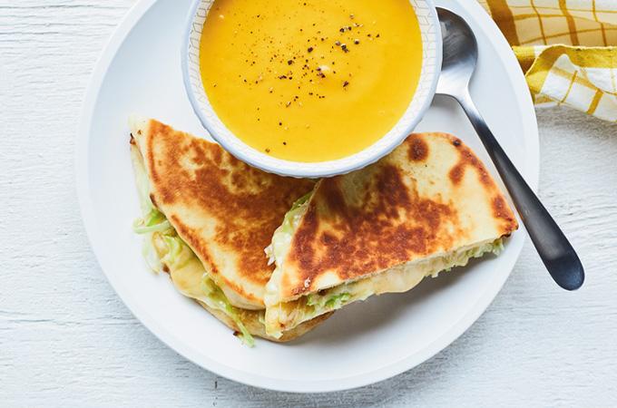 Grilled cheese au gouda