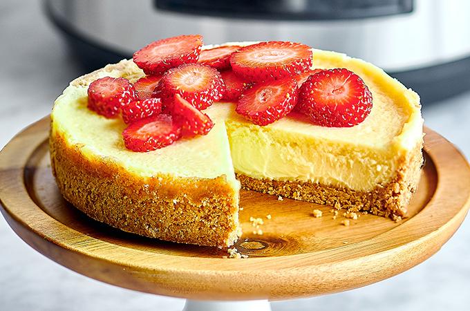 Gâteau au fromage à l'autocuiseur