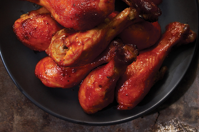 Maple-Glazed Chicken Drumsticks