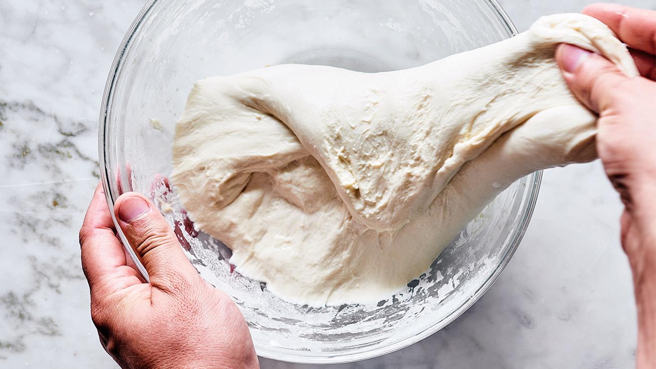 sourdough bread - stretch the dough
